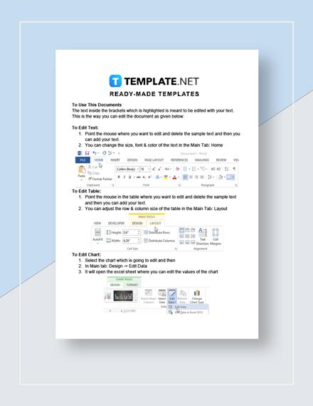 Monthly Balance Sheet Instructions