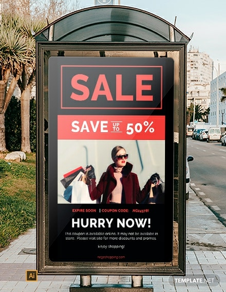 Free Coupon Code Digital Signage Template