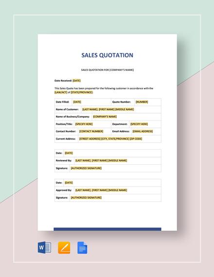 Sales Quotation