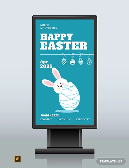 Download Free Easter Digital Signage Template