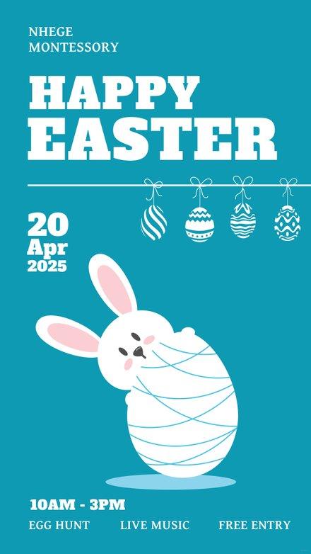 Free Easter Digital Signage Template