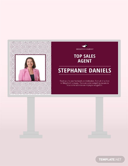 Free Employee Recognition Digital Signage Template