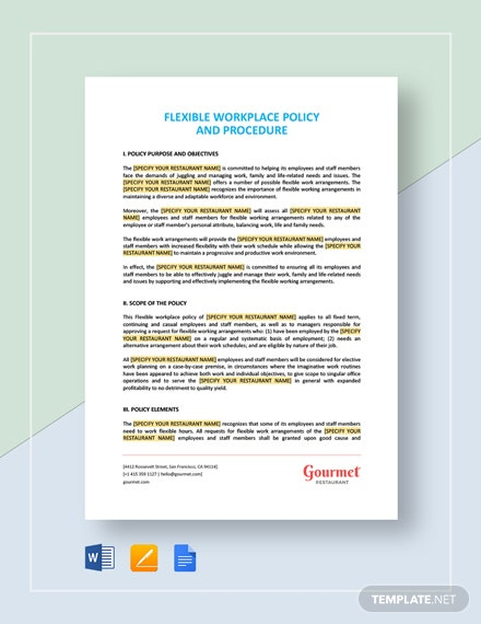 Download HR Policy Templates in Word | Apple Pages | Google