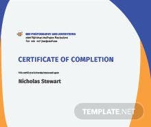 Free course completion certificate template in adobe photoshop free completion certificate template yelopaper Image collections