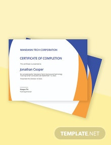 Free Completion Certificate Template