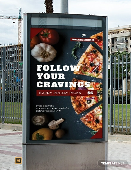 Free Food Advertising Digital Signage Template