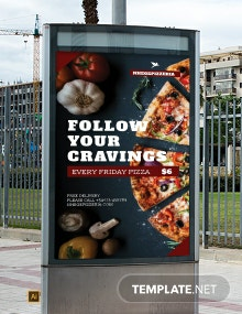 Food Advertising Digital Signage Template