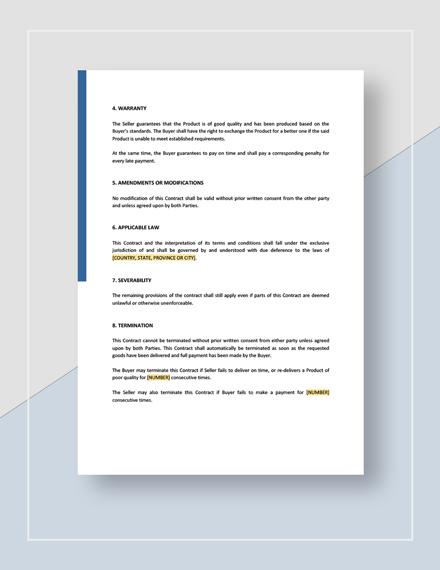 General Sales Contract Download