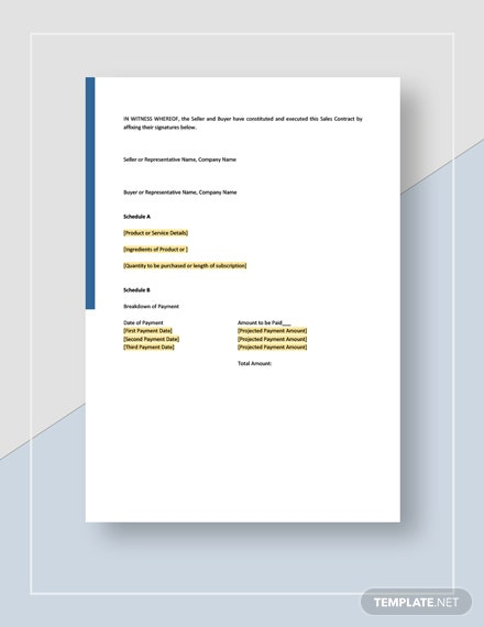 Sample General Sales Contract