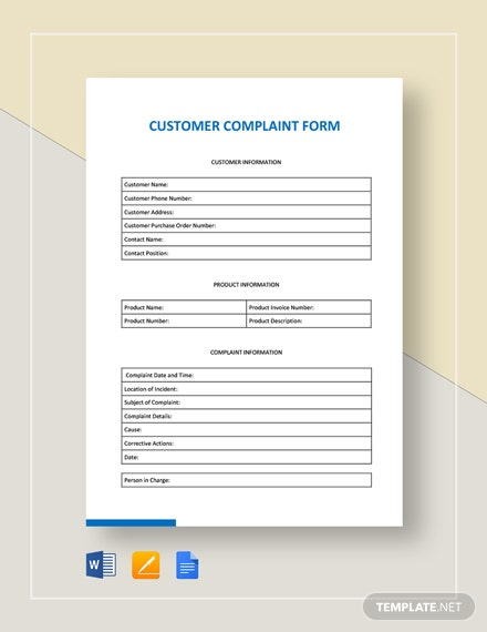 Customer-Complaint-Form Job Application Google Forms on free generic, sonic printable, blank generic, big lots, part time,