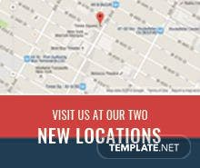Free New Location Digital Signage Template
