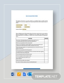 Self Evaluation Form Template