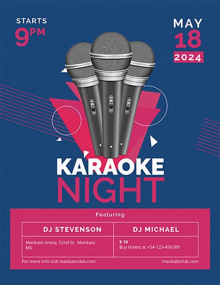 karaoke flyer template 1x