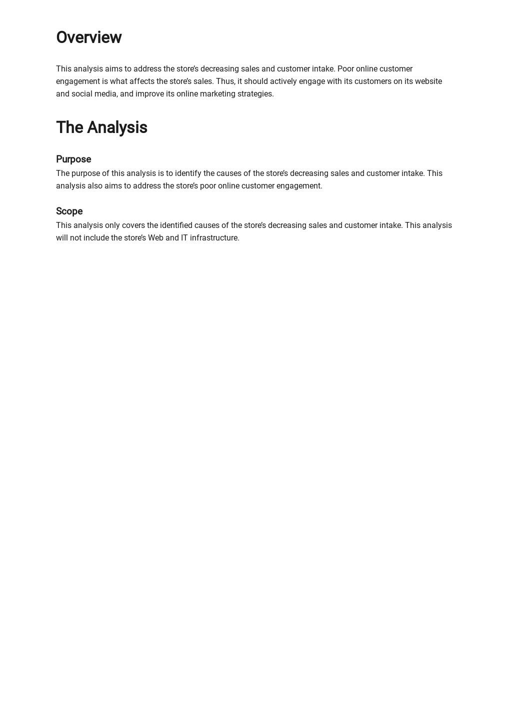 Business Needs Analysis Template [Free PDF] - Google Docs, Word