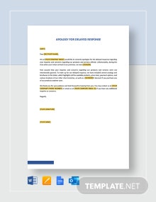 Apology for Delayed Response Template
