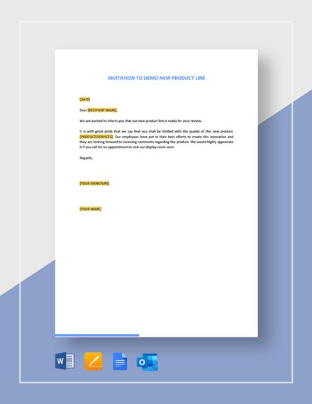 New Product Line Demo Invitation Template
