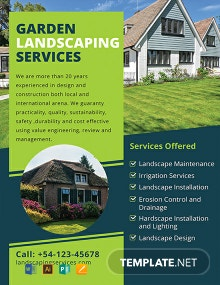 Free Landscaping Flyer Template