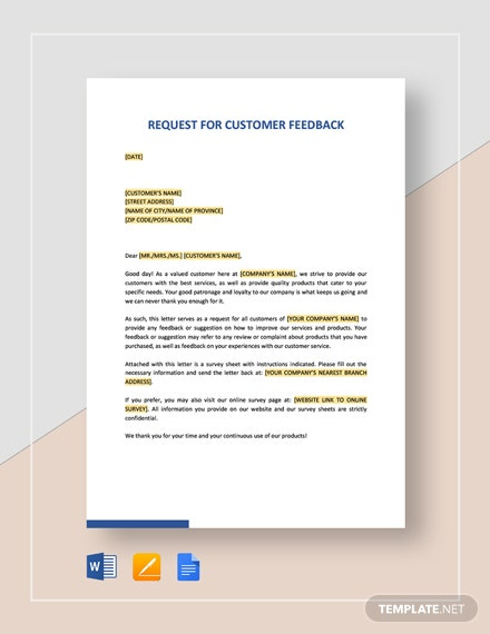 Request for Customer Feedback Template