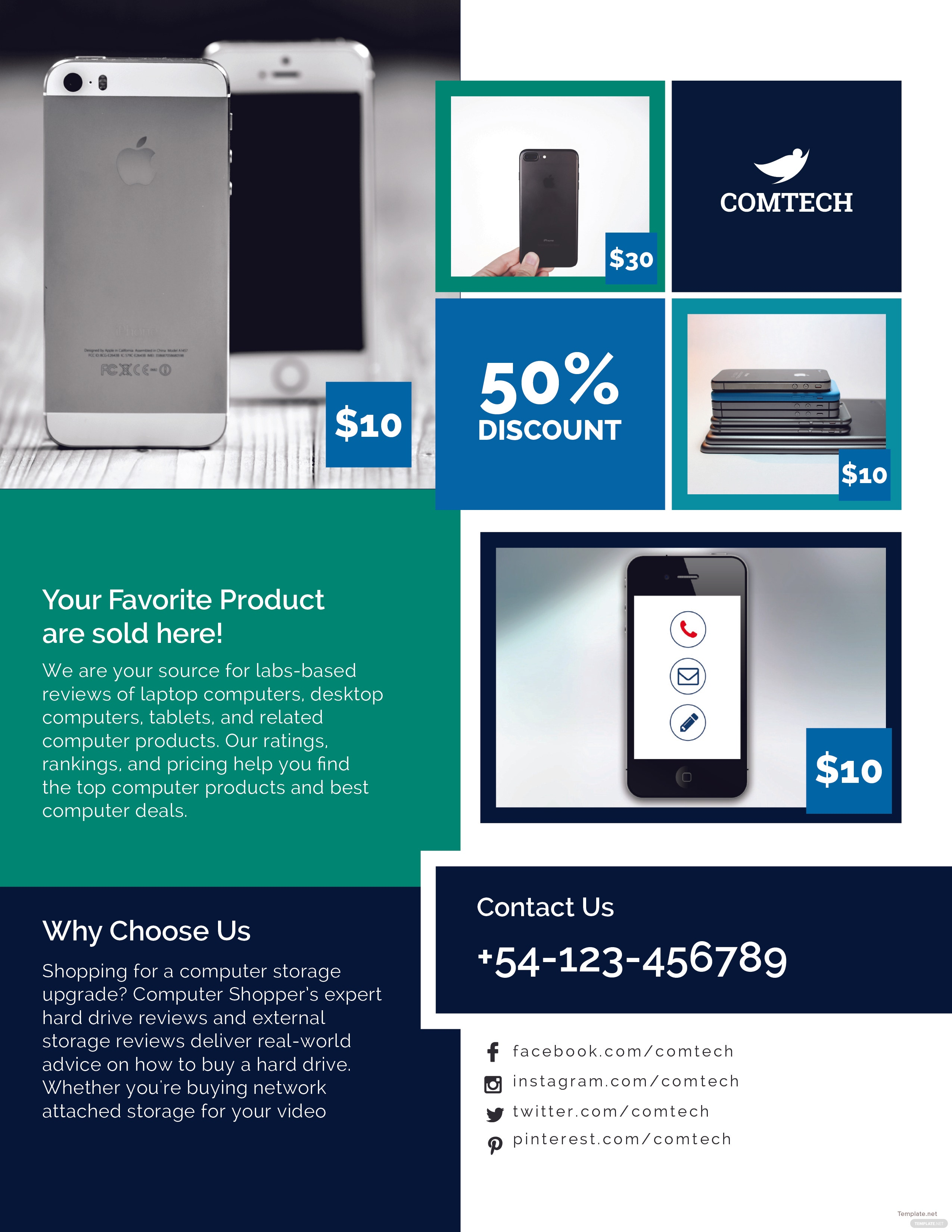Free Multi Purpose Product Promotional Flyer Template in Adobe ...