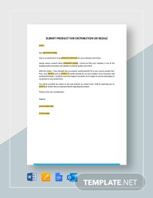 Submit Product for Distribution or Resale Template