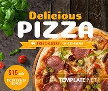 Free Pizza Flyer Template