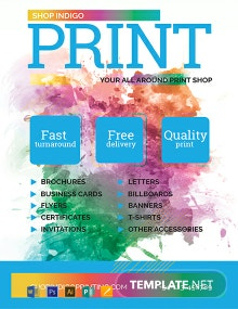 Free Print Shop Flyer Template