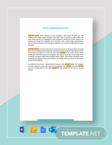 Sales Commission Policy Template