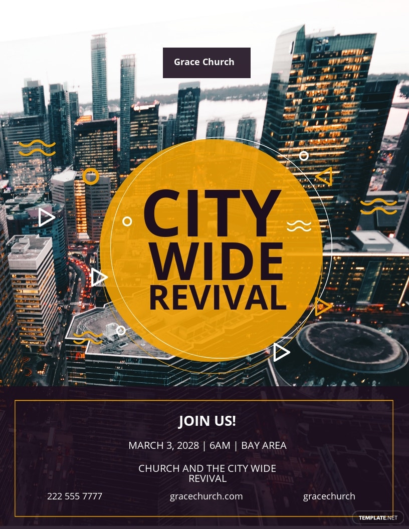 FREE Revival - The City Church Flyer Template