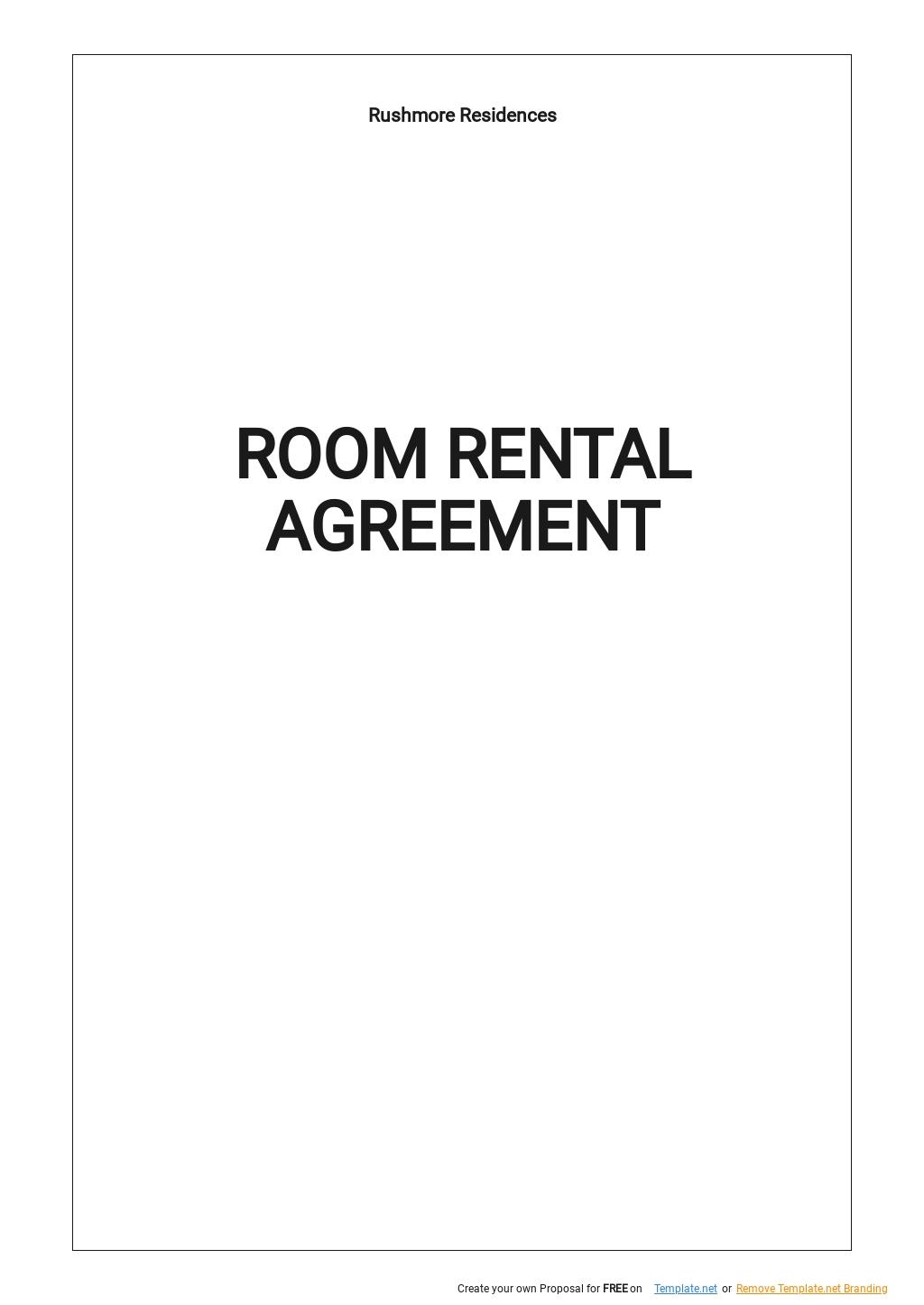 Sample Room Rental Agreement Template.jpe