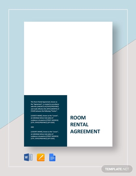 Sample Room Rental Agreement Template