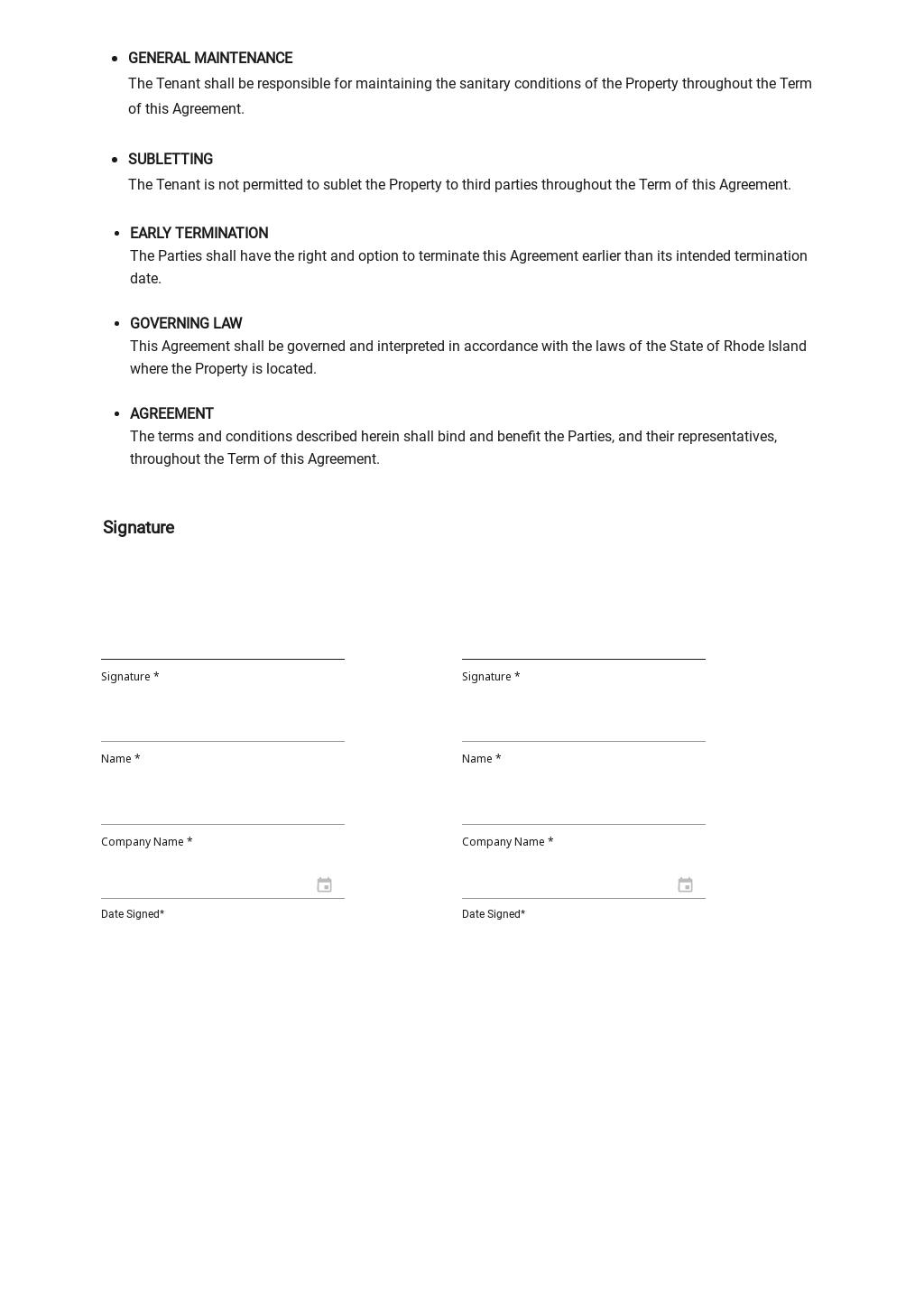 Sample Apartment Rental Agreement Template 2.jpe