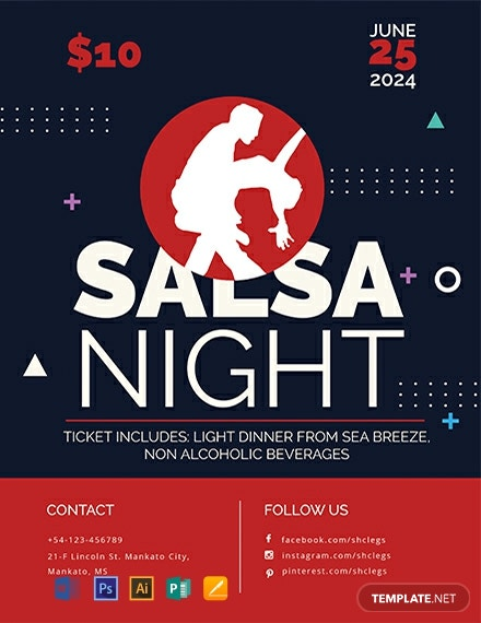 Free Salsa Flyer Template