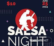 Free Salsa Flyer Template