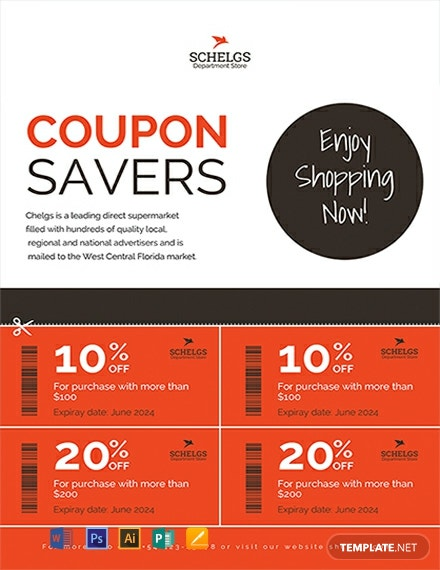 Free Sample Coupon Flyer Template