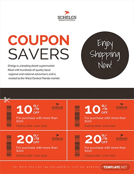 sample coupon flyer template 1x