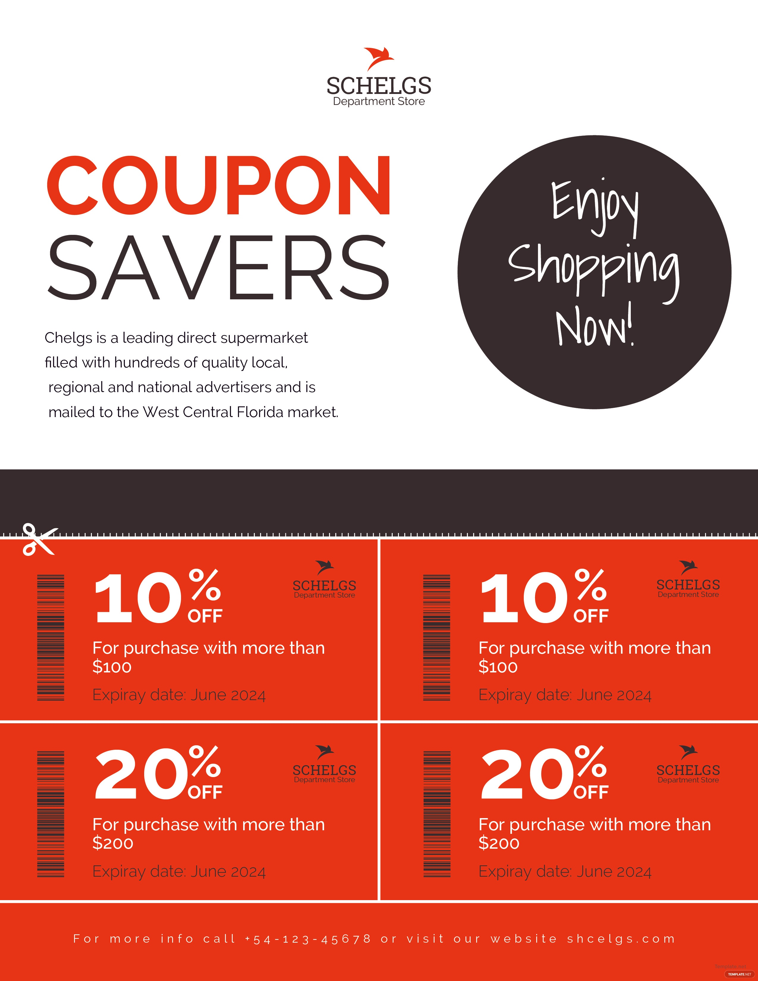 Free Sample Coupon Flyer Template in Adobe Photoshop, Microsoft Word ...