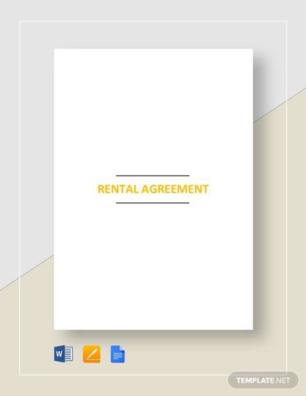 Rental Agreement Format Template