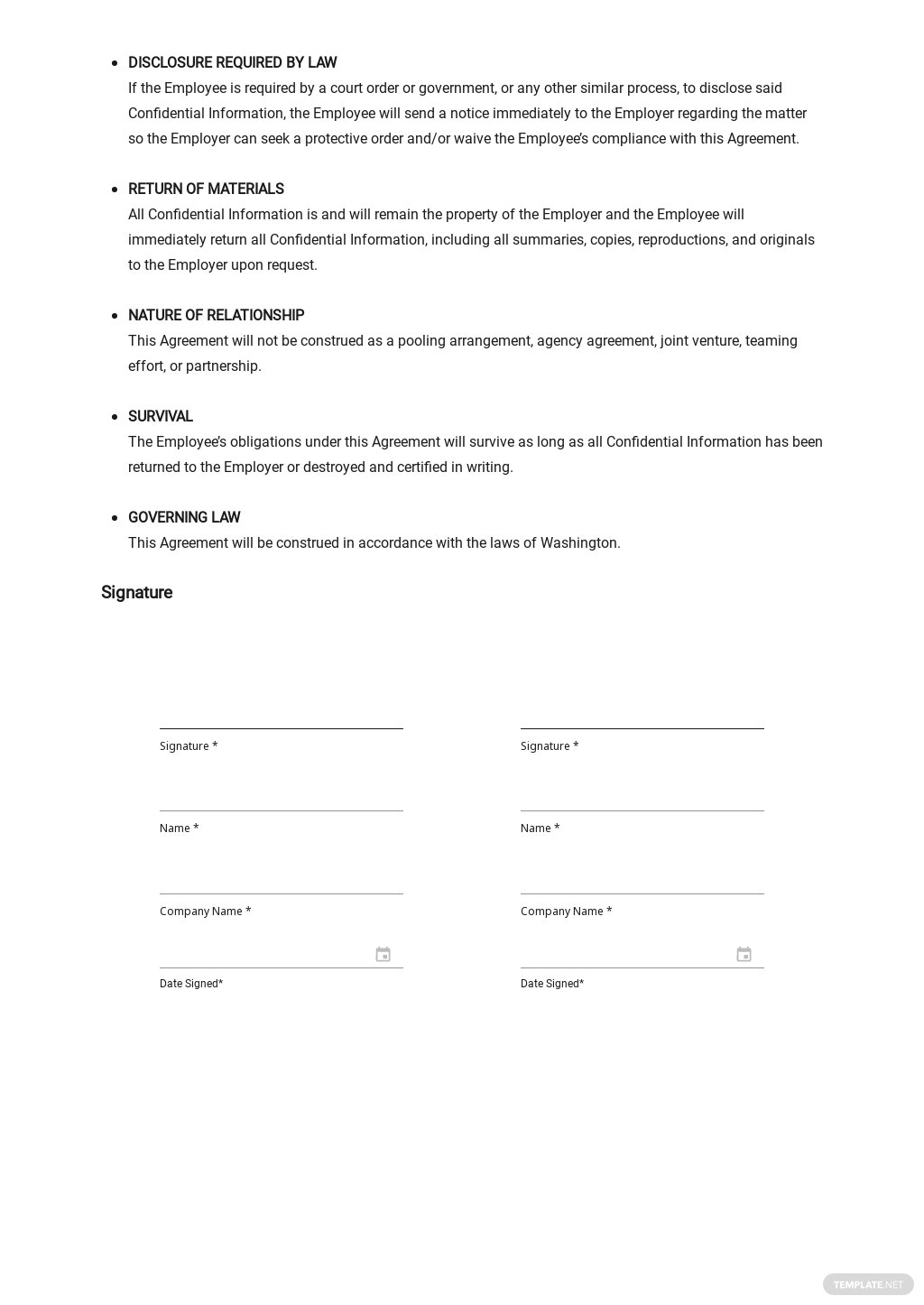 Sample Employee Confidentiality Agreement Template 2.jpe