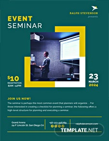 Free Seminar Flyer Template