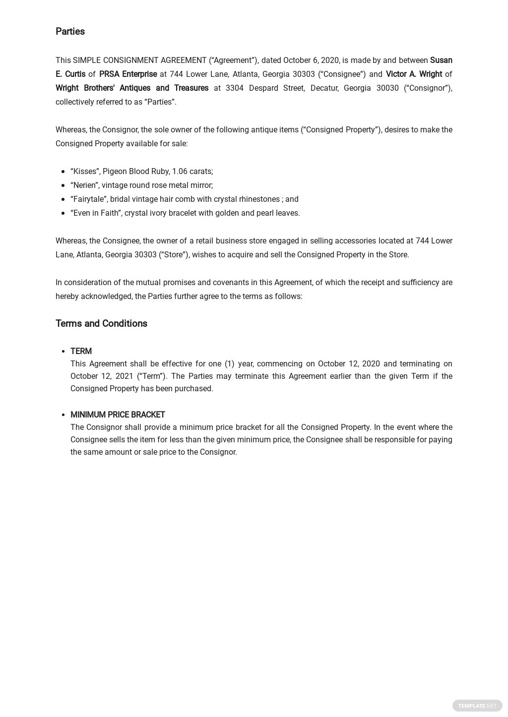 Simple Consignment Agreement Template 1.jpe