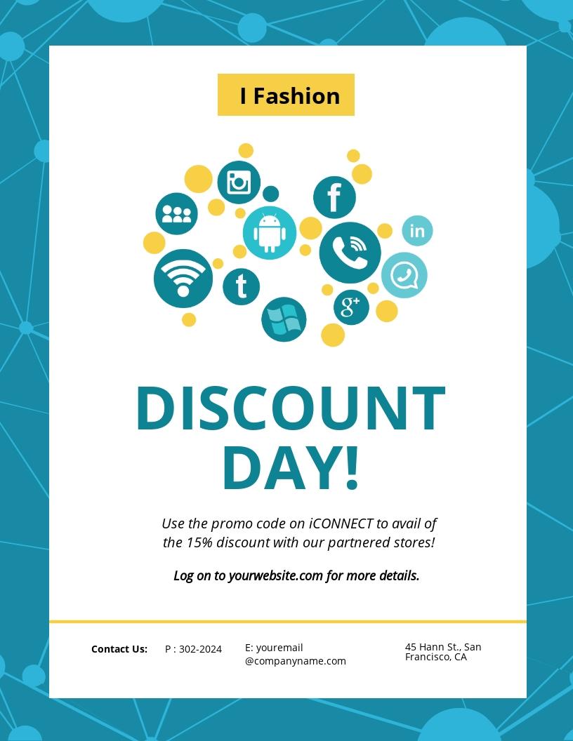 Social Media Discount Flyer Template
