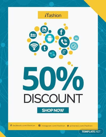 Free Social Media Discount Flyer Template