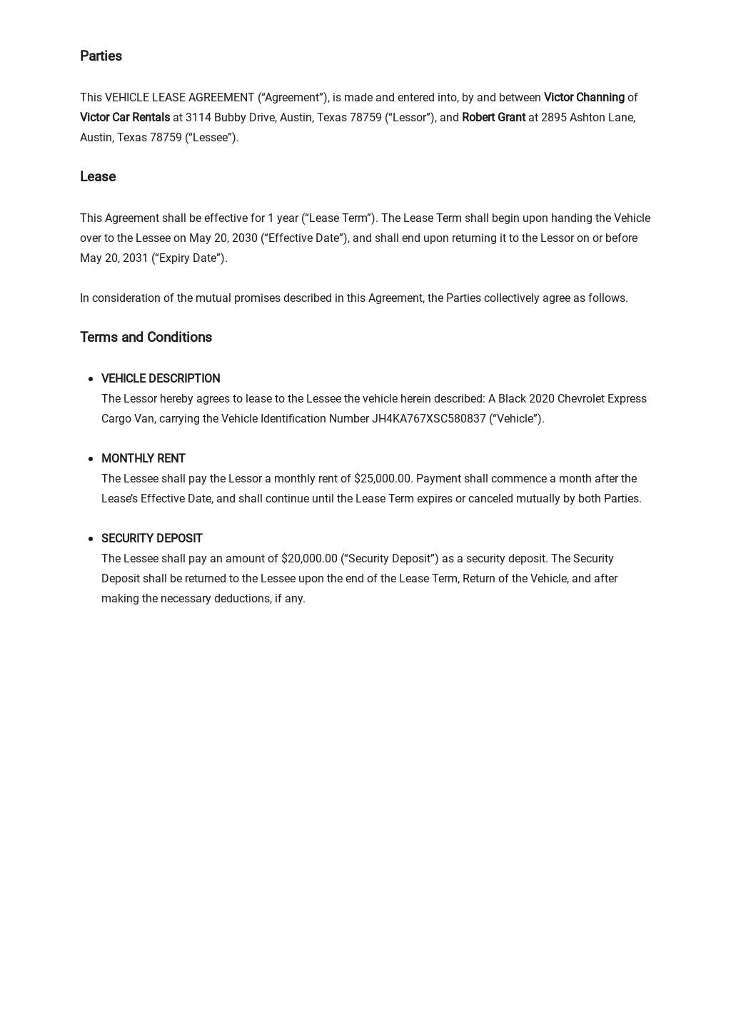 Simple Vehicle Lease Agreement Template 1.jpe