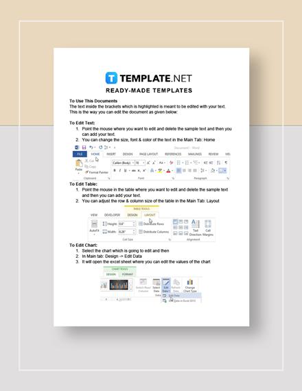 Sample Memorandum of Understanding Instructions