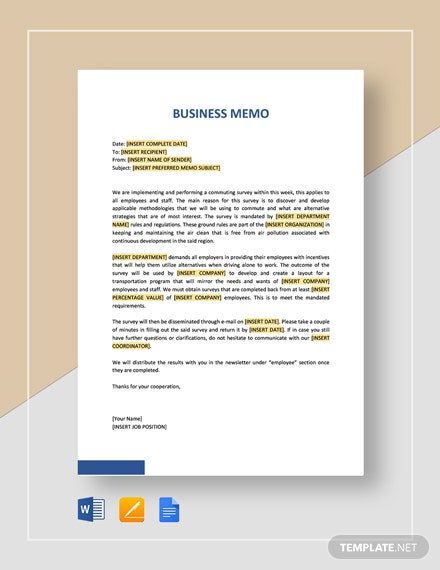Sample Business Memo