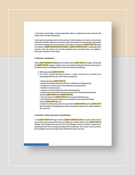 Memorandum of Understanding Between Two Individuals Party Download