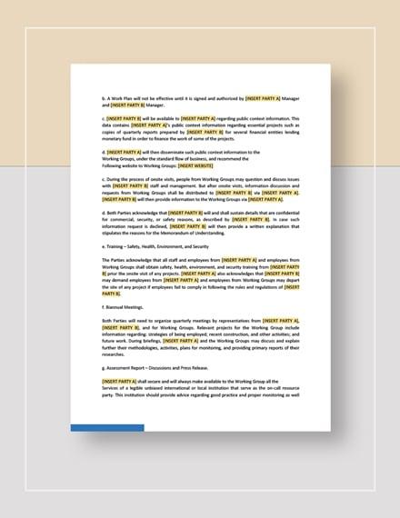 Sample Memorandum of Understanding Between Two Individuals Party