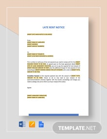 Late Rent Notice Template