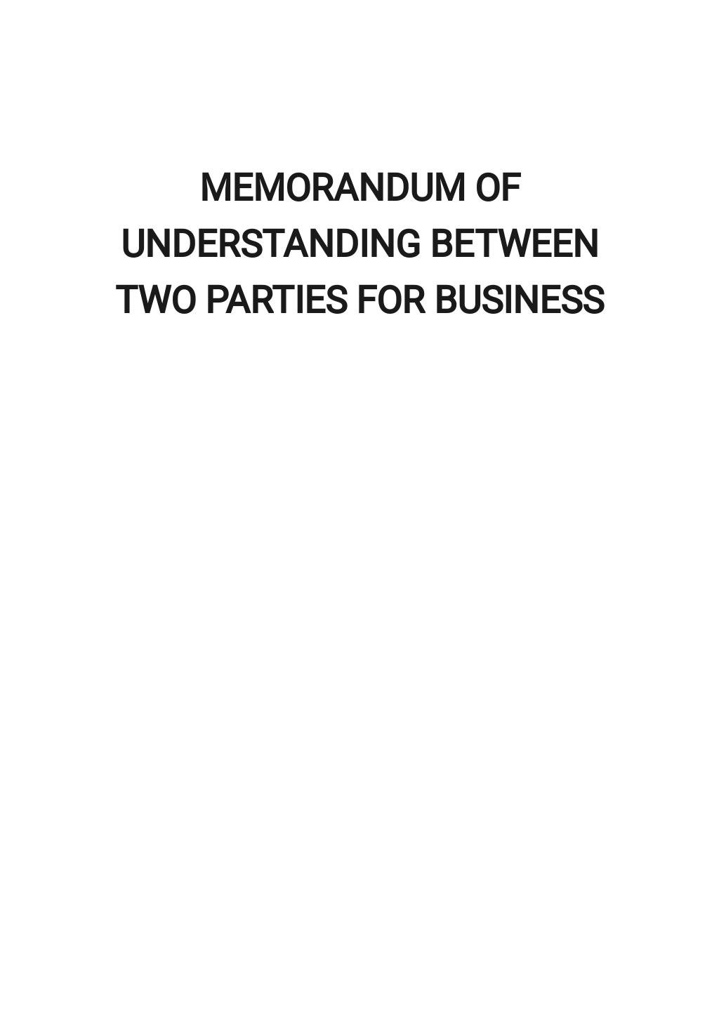 Memorandum of Understanding Between Two Parties for Business Template.jpe
