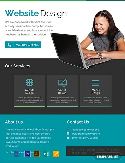 Free Website Design Flyer Template Download 772 Flyers In Psd